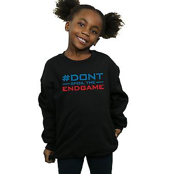 Marvel Girls Avengers Endgame Don't Spoil The Endgame Sweatshirt