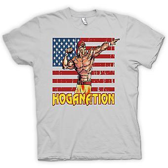 Mens T-shirt - Hoganation - Hulk Hogan US Flag