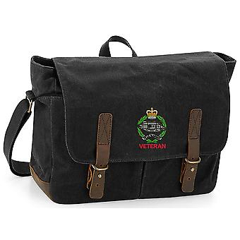 Royal Tank Regiment Veteran - Licensed British Army Embroidered Waxed Canvas Messenger Bag