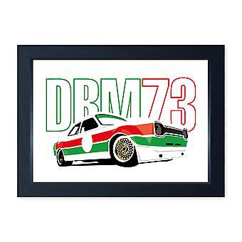 Zakspeed Mk1 Escort DRM Race Car, Framed Poster Print - Home Decor Kitchen Bathroom Man Cave Wall Art