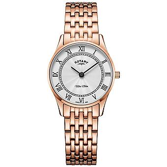 Rotary Womens Ultra Slim Rose Gold Bracelet LB08304/01 Watch