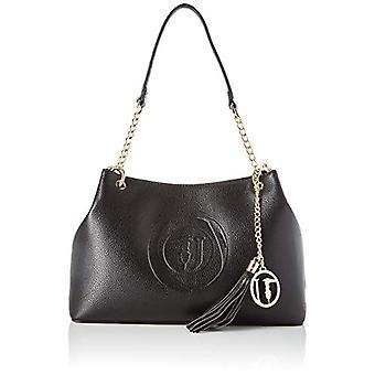 Trussardi Jeans Faith Hobo MD Tumbled Ecoleath Black Women's Shoulder Bag (Black) 22x11x32 cm (W x H x L)