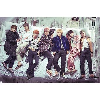 BTS Group Bed Maxi Poster 61x91.5cm