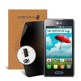 Celicious Privacy 2-Way Anti-Spy Filter Screen Protector Film Compatible with LG Optimus L5 II