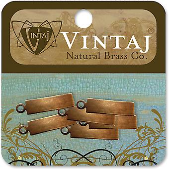 Métal Vintaj altéré blancs 6 Pkg Rectangle Tag 21Mm Dp0005r