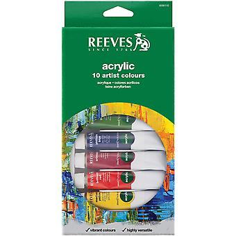 Reeves acrylverf 22Ml 10 Pkg assorti kleuren 8390110
