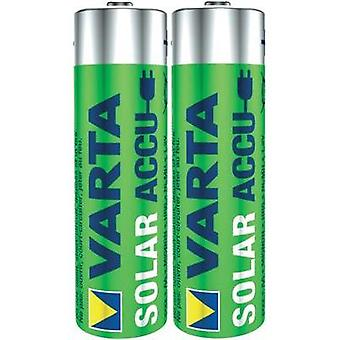 AA battery (rechargeable) NiMH Varta Solar HR06 800 mAh 1.2 V 2 pc(s)