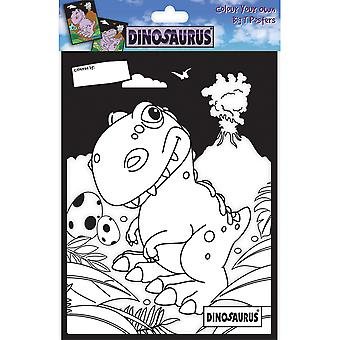 Dinosaurus Color Your Own Poster-DAX DCCYO-2
