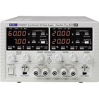 Bench PSU (adjustable voltage) Aim TTi CPX400D 0 - 60 Vdc 0 - 20 A 840 W No. of outputs 2 x