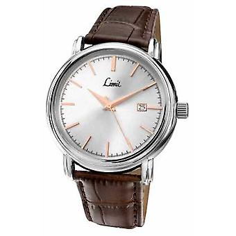 Limit Mens Brown Leather Strap Silver Dial 5982 Watch