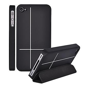 Cover with total protection with stand in hard plastic, for iPhone 4/4s