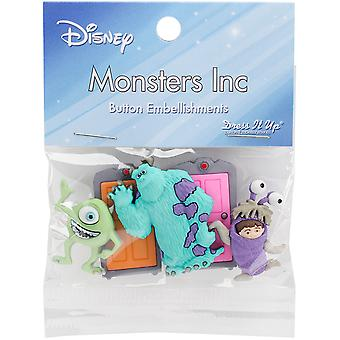 Dress It Up Licensed Embellishments-Disney Monsters, Inc. DIULBTN-7734