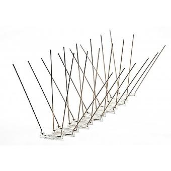 Propoint Ultra Wide Stainless Steel Pigeon Spikes For Ledges; Ridges And Roofs; 5 Metre Set
