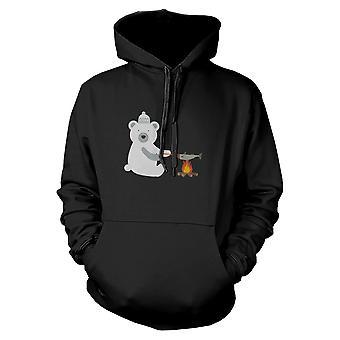 Polar Bear Grilling Fish Hoodie Winter Sweatshirt For Dog Lovers