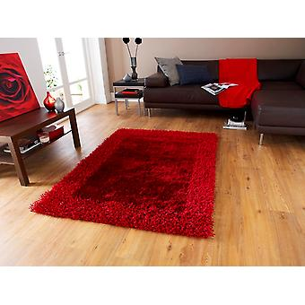 Ultra Soft Colour Fast Quality Red Shaggy Rug - Santa Clara