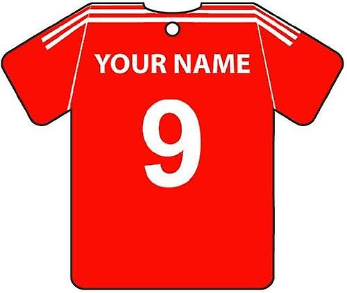 Personalised Aberdeen Football Shirt Car Air Freshener