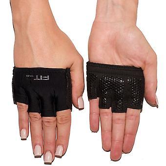 4 つはグリッパー トレーニング重量挙げの手袋 - ブラック フィットします。