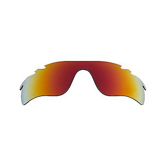 New SEEK Replacement Lenses for Oakley VENTED RADAR LOCK Red Mirror