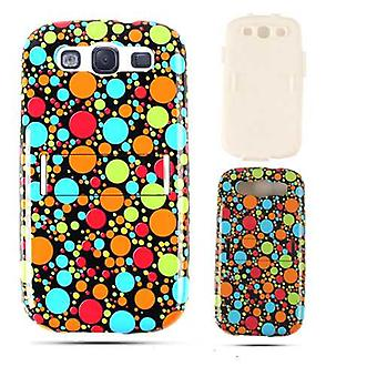 Unlimited Cellular Hybrid Fit On Jelly Case for Samsung Galaxy S3 (Multi-Color D
