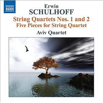 E. Schulhoff - Erwin Schulhoff: String Quartets Nos. 1 & 2; Five Pieces for String Quartet [CD] USA import