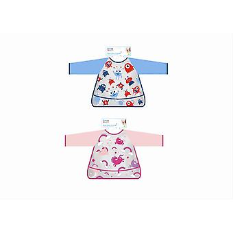 Wipe Clean Coverall Kids Baby Bib Overall Waterproof Easy Clean Stops Mess