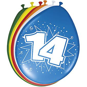 Colorful balloons balloon number 14 birthday 8 St. decoration balloons party