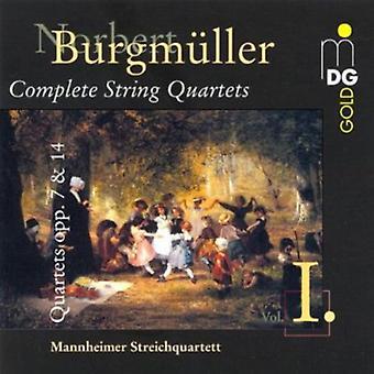 N. Burgmuller - Norbert Burgm Ller: importación de USA de cuartetos ADV. 7 & 14 [CD]