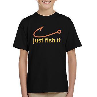 Nur Fische es Nike Logo gelb Kinder T-Shirt