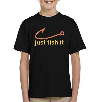 Просто Рыба Это Nike Логотип желтый Kid'apos;s футболка