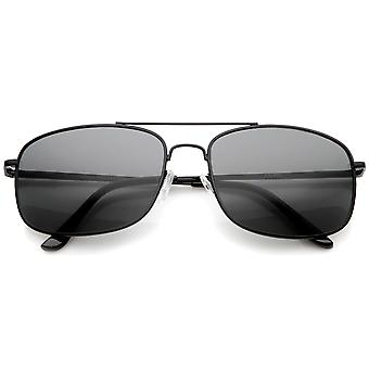 Mens Metal Aviator Sunglasses With UV400 Protected Composite Lens