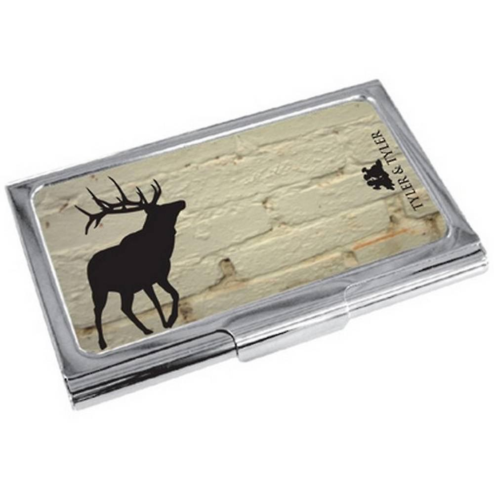 Tyler and Tyler Brick Stag Business Card Holder - White