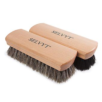 selvyt x large premium horsehair buffing brush black and neutral shoes or boots