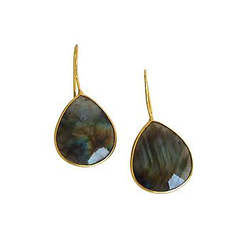 Labradorite earring gemstone earrings gemstone earrings gold plated