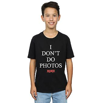 Justin Bieber Boys I Don't Do Photos T-Shirt