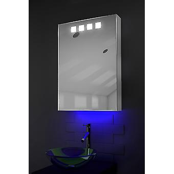 Ambient Bathroom Cabinet With Sensor & Internal Shaver Socket k259