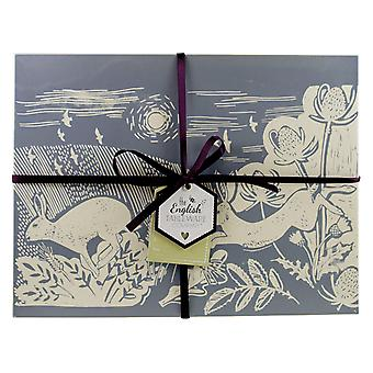 English Tableware Co. Artisan Grey Hare Placemats, Set of 4
