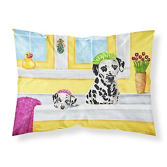 Bath Day Dalmatian Fabric Standard Pillowcase