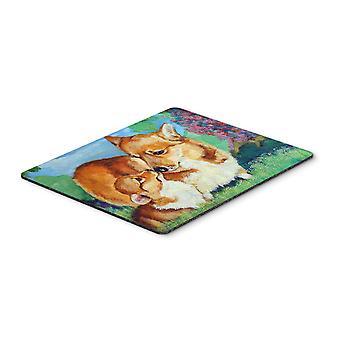 Carolines Treasures  7412MP Corgi Momma's Love Mouse Pad, Hot Pad or Trivet