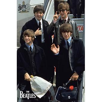 Beatles - plano en América Poster Poster Print