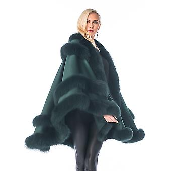 Forest Green Cashmere Cape for Women Empress Style