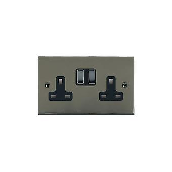 Hamilton Litestat Cheriton Victorian Black Nickel 2g 13A DP Swt Skt BK/BL