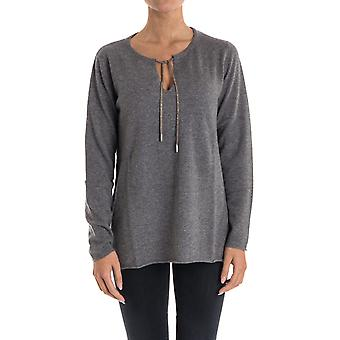 Hemisphere ladies 1721319PR4953 gray cashmere sweater
