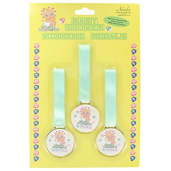 Baby Shower Games Pack of 3 Winners Medals
