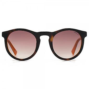 Hook LDN Parklife Sunglasses In Tortoiseshell On Orange
