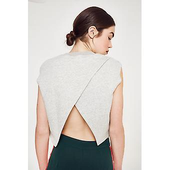 Ouor Cross Back Open Sweater Top
