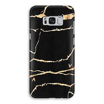 Samsung Galaxy S8 Full ut fallet - guld marmor