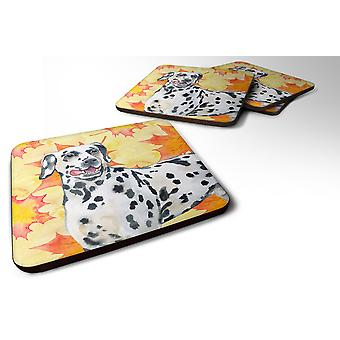Carolines Treasures  BB9914FC Set of 4 Dalmatian Fall Foam Coasters Set of 4