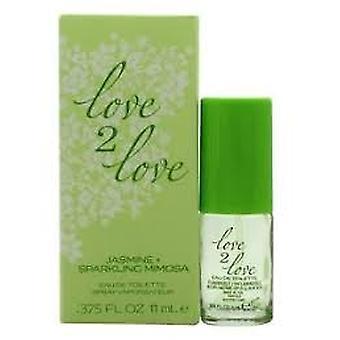 Love2Love Jasmine + mousserende Mimosa Eau de Toilette 11ml EDT Spray