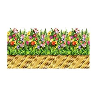 Flor tropical y bambú pasarela frontera