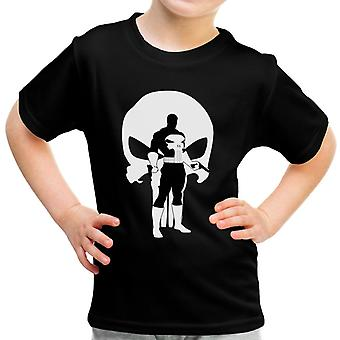 Der Punisher Comic Book Anzug Silhouette Kinder T-Shirt